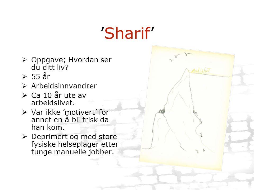 'Sharif' Oppgave; Hvordan ser du ditt liv 55 år Arbeidsinnvandrer