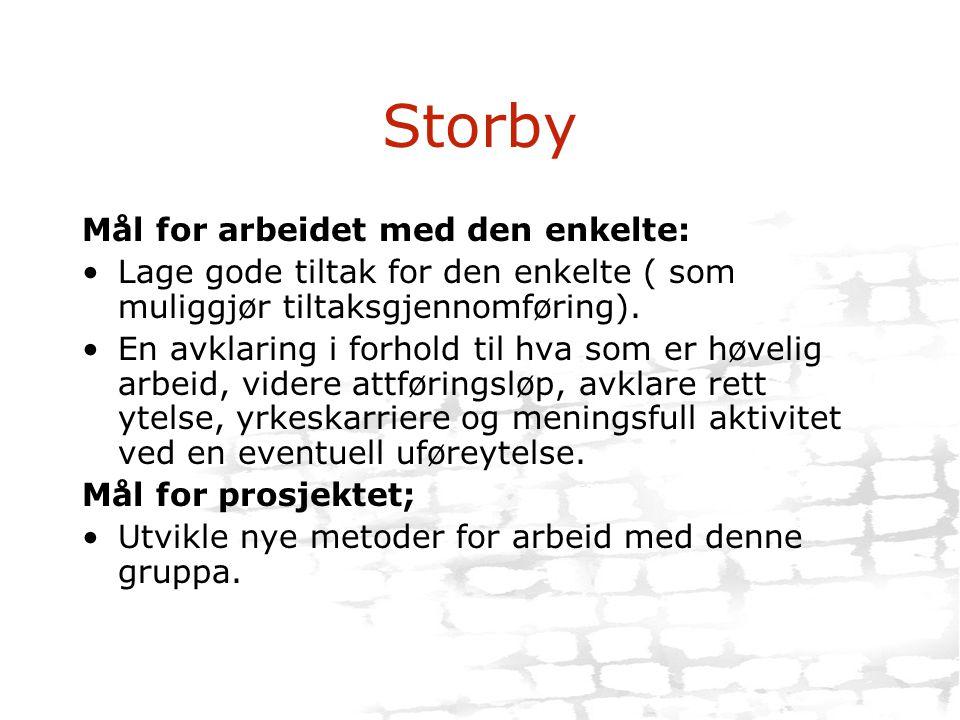 Storby Mål for arbeidet med den enkelte:
