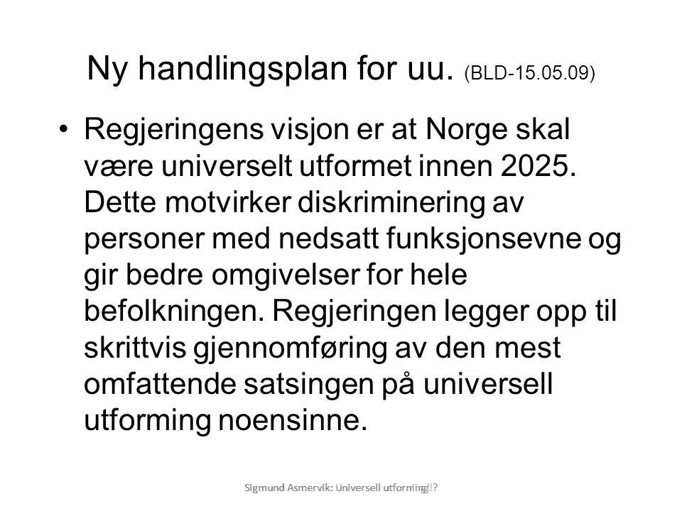 Ny handlingsplan for uu. (BLD-15.05.09)