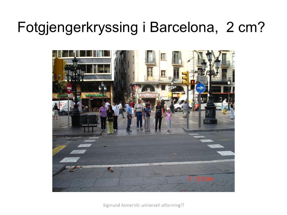 Fotgjengerkryssing i Barcelona, 2 cm