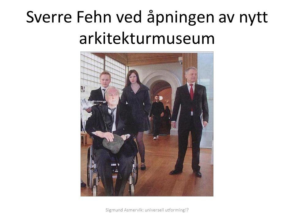 Sverre Fehn ved åpningen av nytt arkitekturmuseum