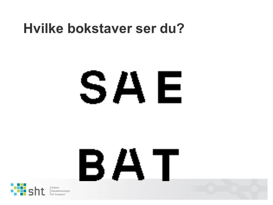 Hvilke bokstaver ser du