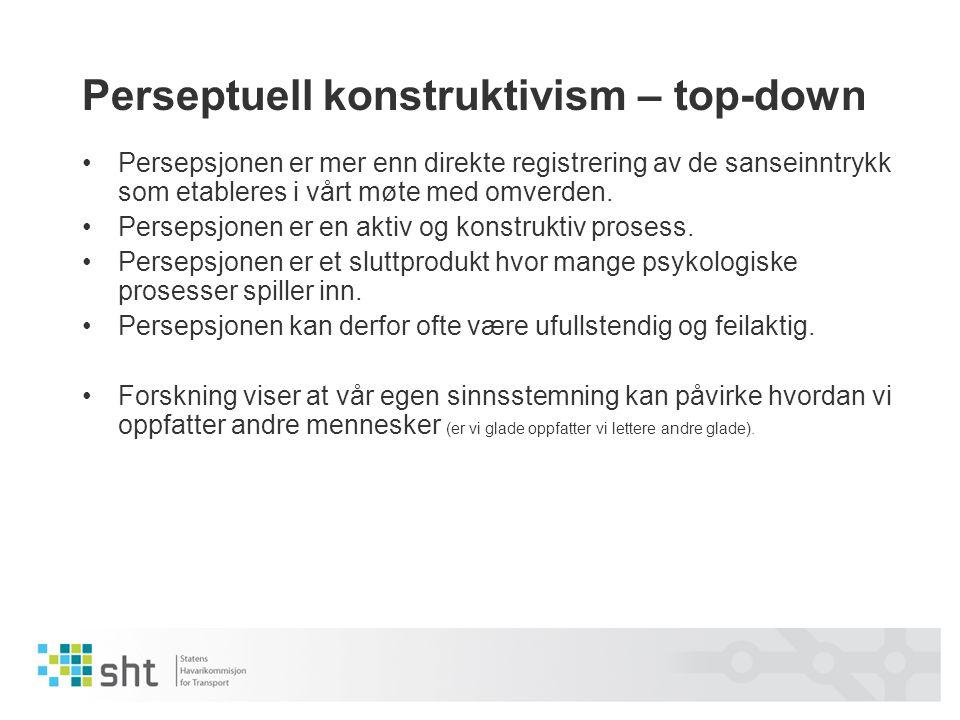Perseptuell konstruktivism – top-down