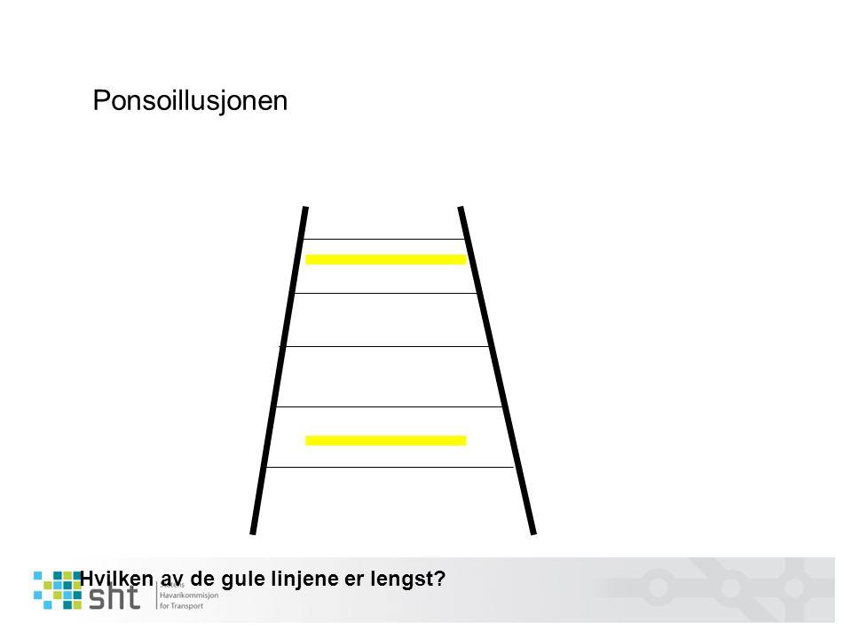 Ponsoillusjonen Hvilken av de gule linjene er lengst