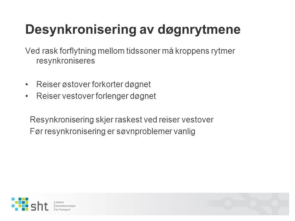 Desynkronisering av døgnrytmene