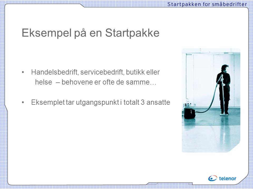 Eksempel på en Startpakke