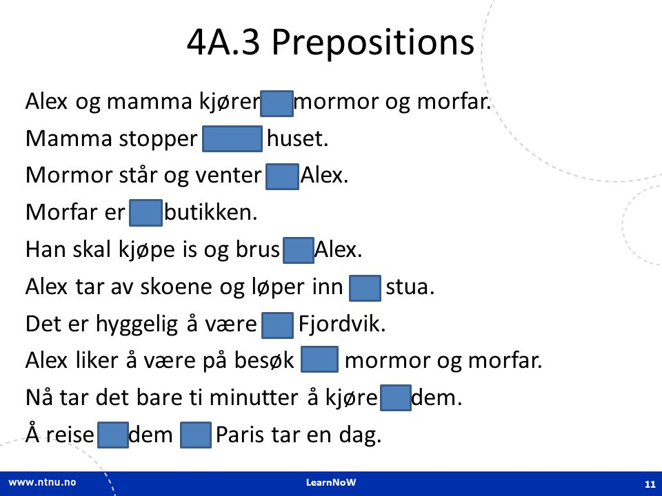 4A.3 Prepositions