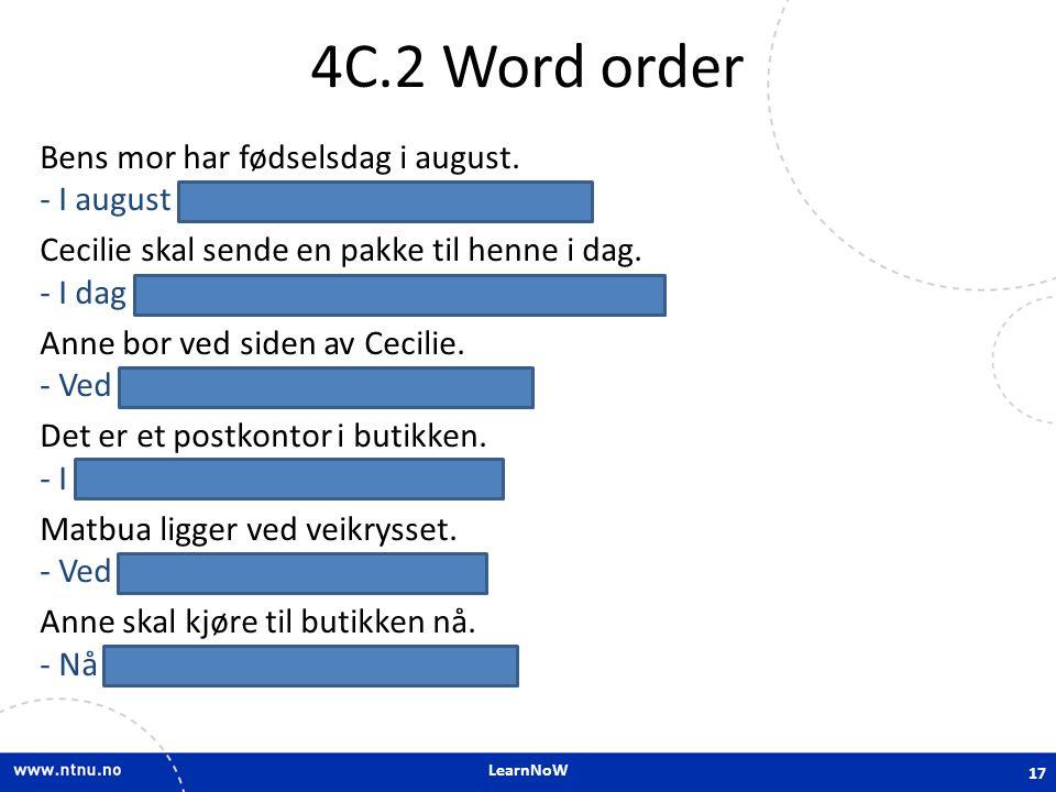4C.2 Word order