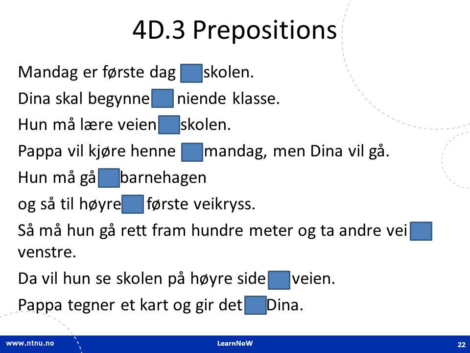 4D.3 Prepositions