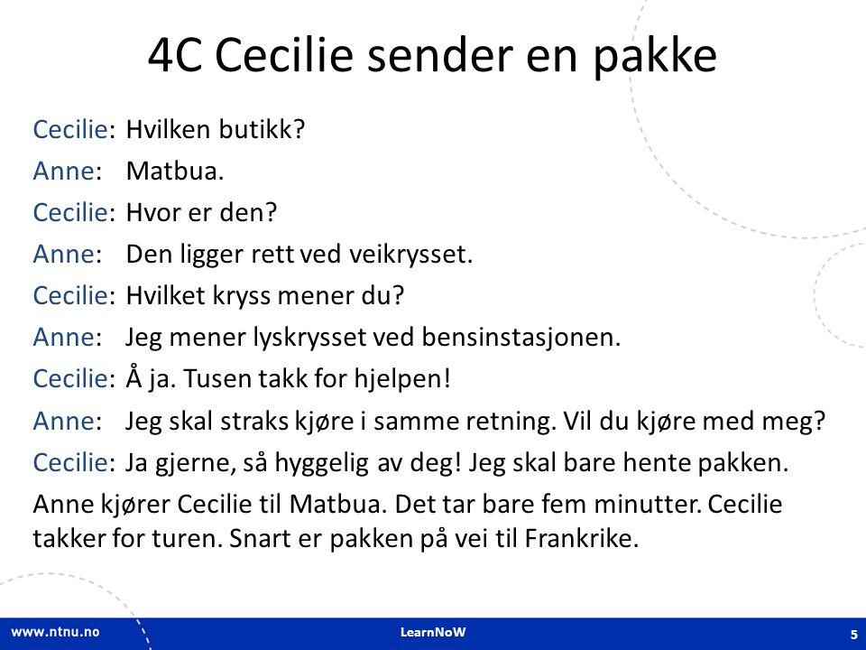 4C Cecilie sender en pakke