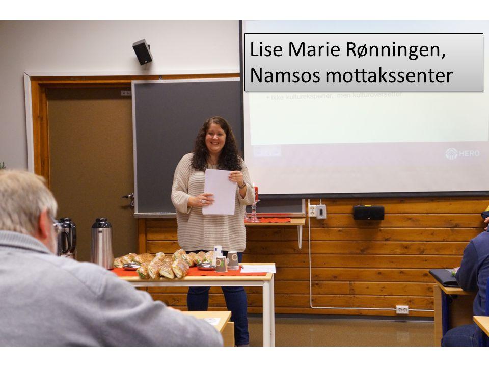 Lise Marie Rønningen, Namsos mottakssenter