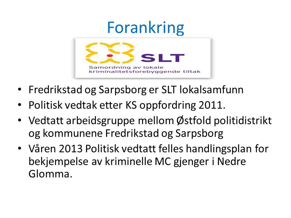 Forankring Fredrikstad og Sarpsborg er SLT lokalsamfunn