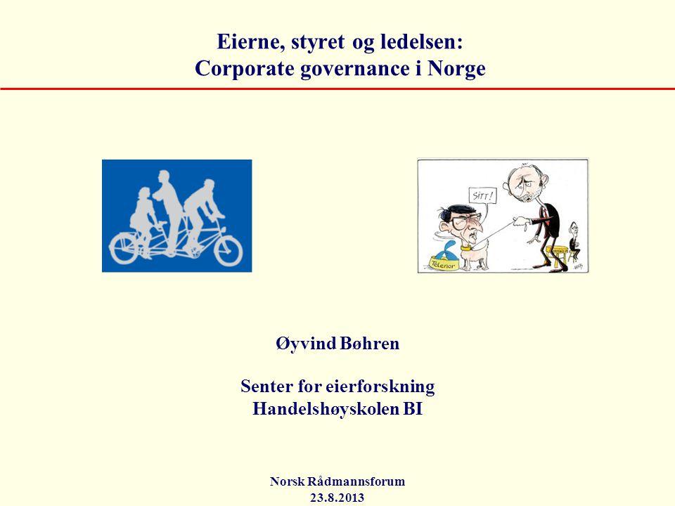 Eierne, styret og ledelsen: Corporate governance i Norge