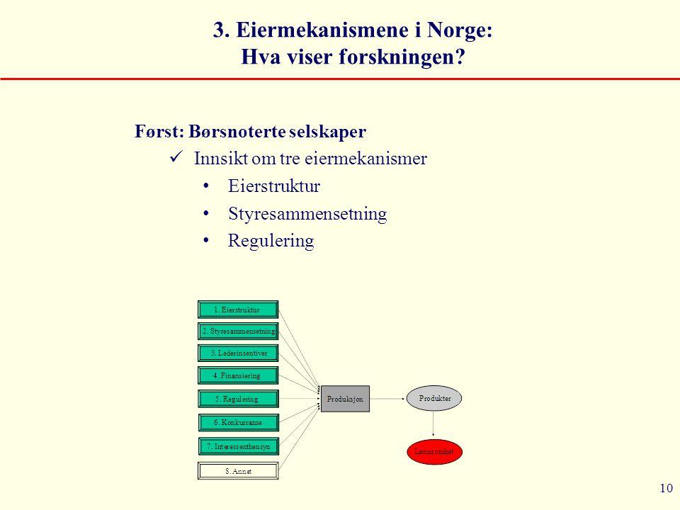 3. Eiermekanismene i Norge: Hva viser forskningen