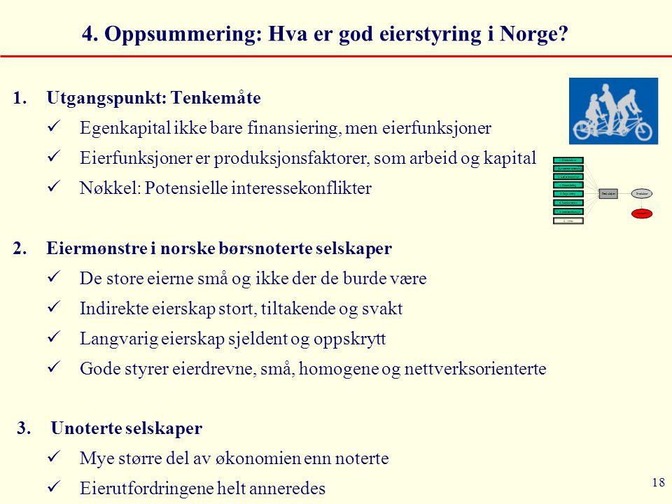 4. Oppsummering: Hva er god eierstyring i Norge