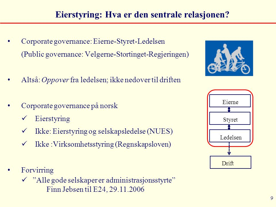 Eierstyring: Hva er den sentrale relasjonen
