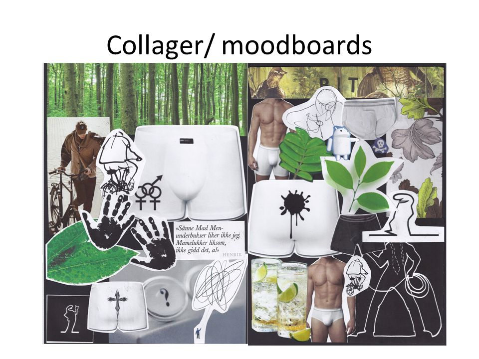 Collager/ moodboards