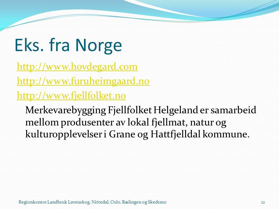 Eks. fra Norge