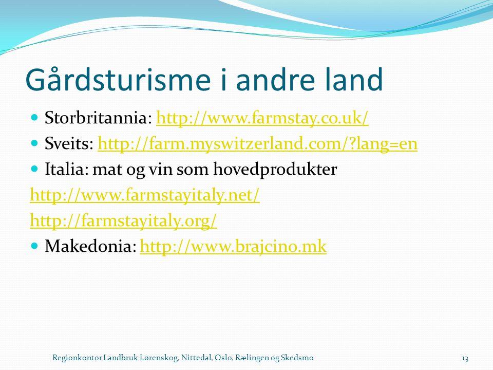 Gårdsturisme i andre land