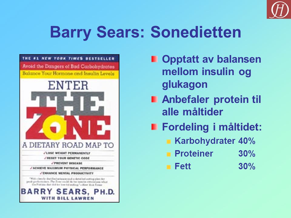 Barry Sears: Sonedietten