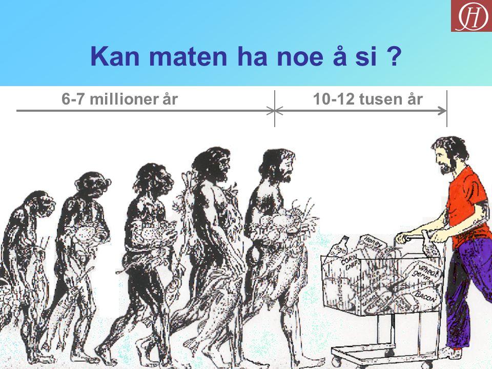 Kan maten ha noe å si 6-7 millioner år 10-12 tusen år