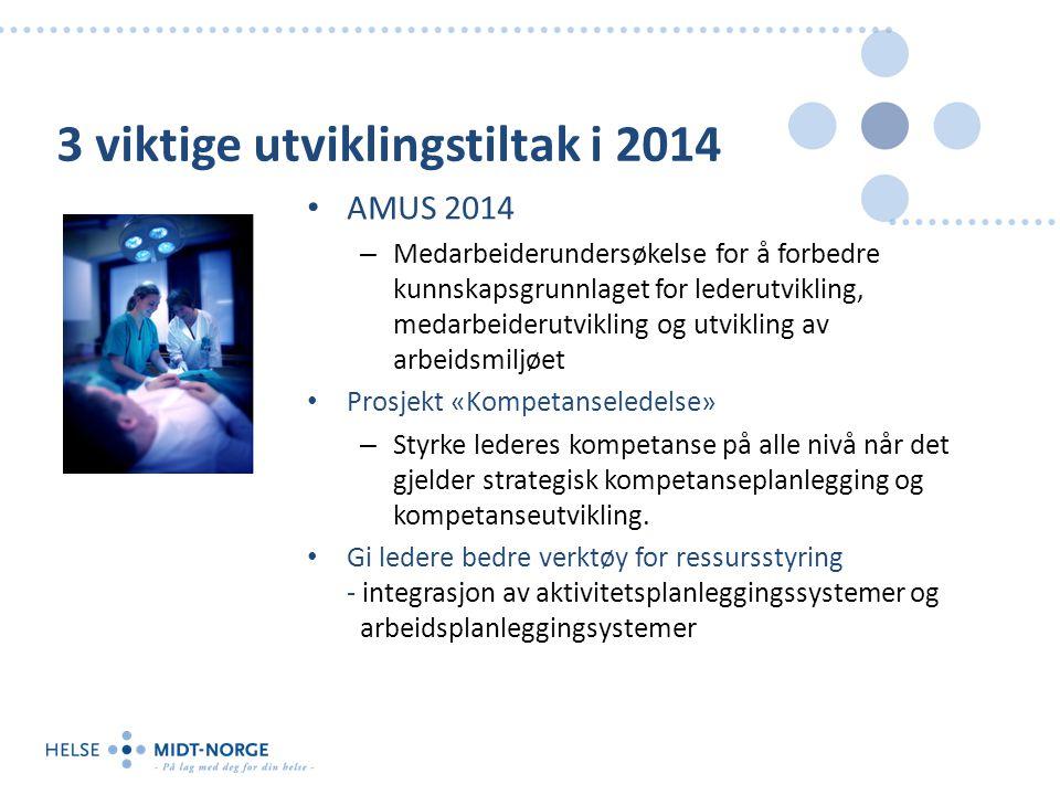 3 viktige utviklingstiltak i 2014