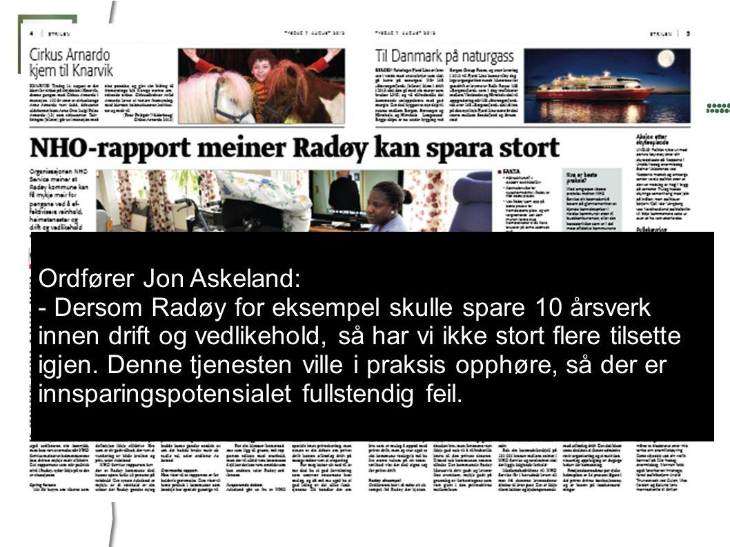 Ordfører Jon Askeland: