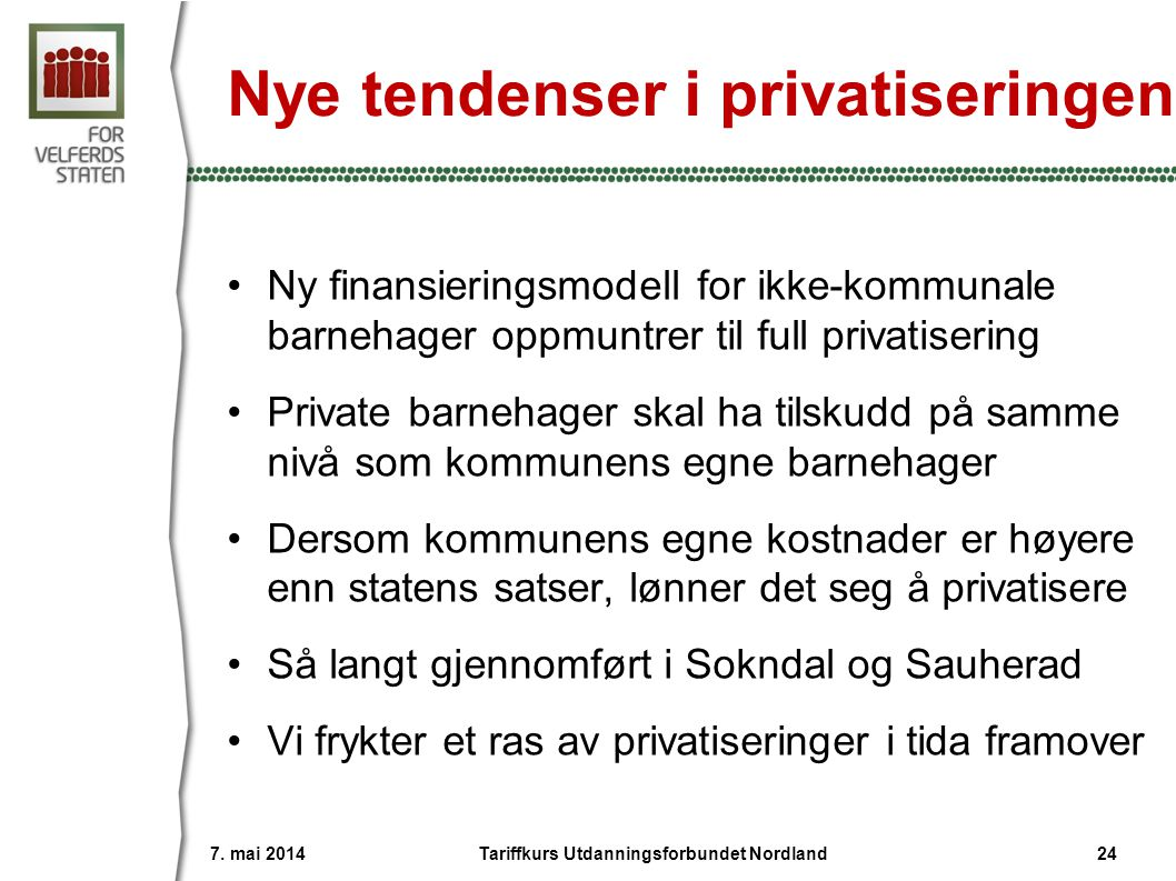 Nye tendenser i privatiseringen
