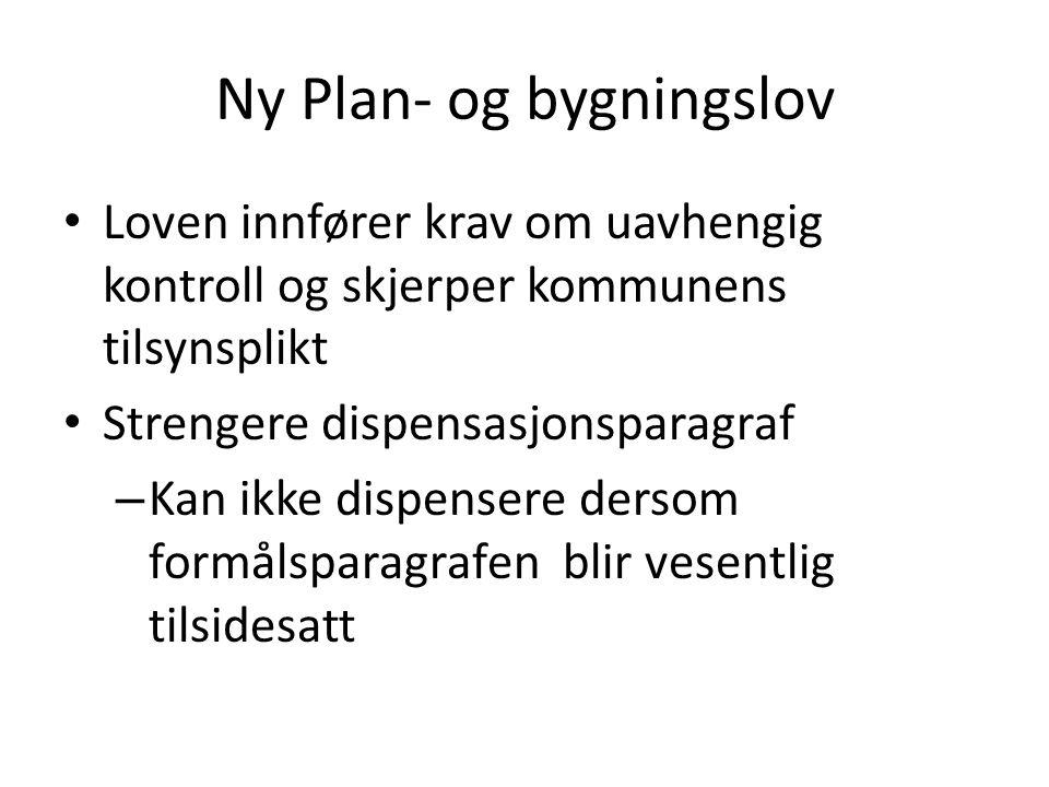 Ny Plan- og bygningslov