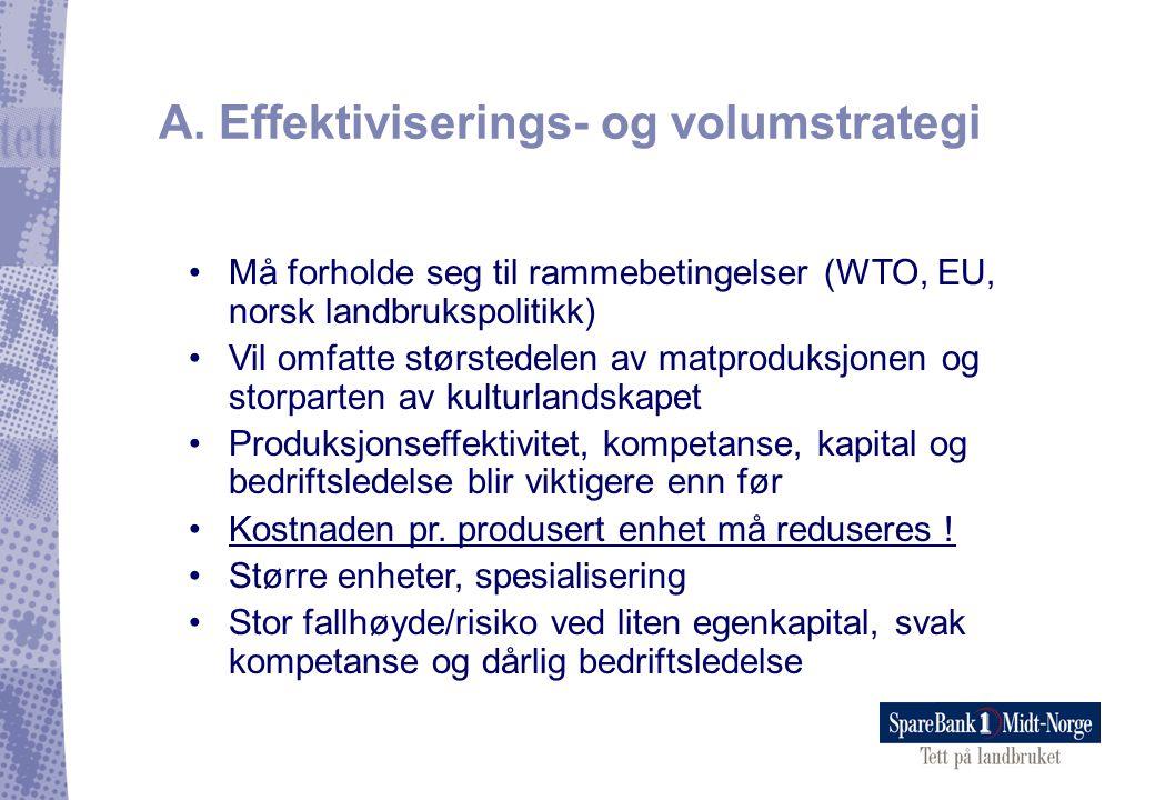 A. Effektiviserings- og volumstrategi