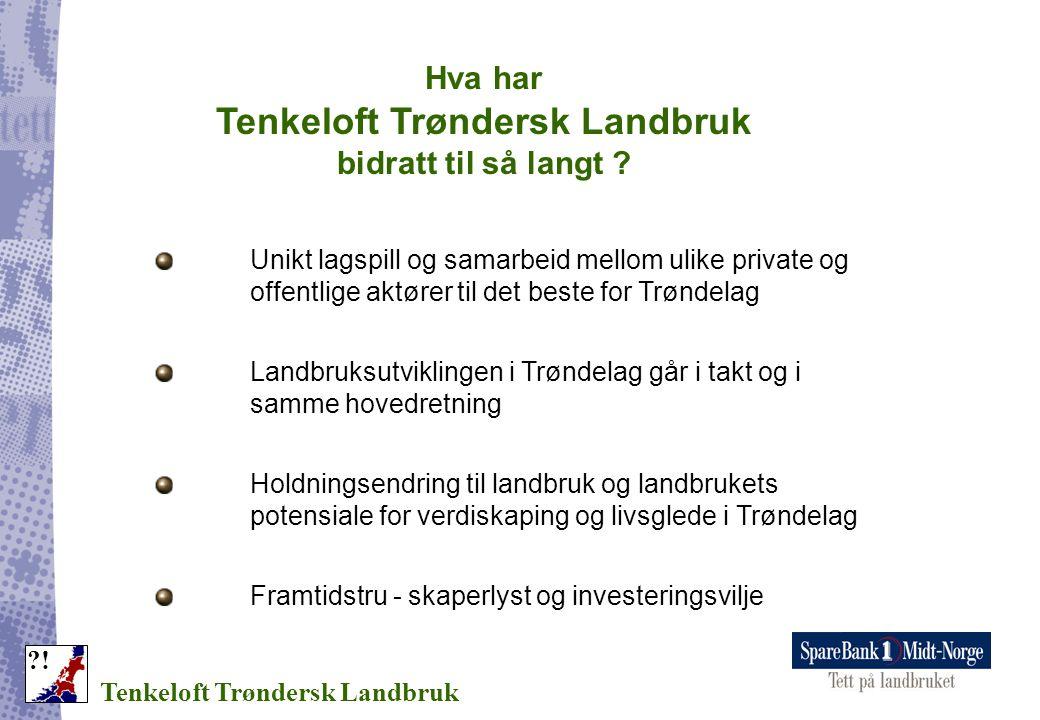 Hva har Tenkeloft Trøndersk Landbruk bidratt til så langt