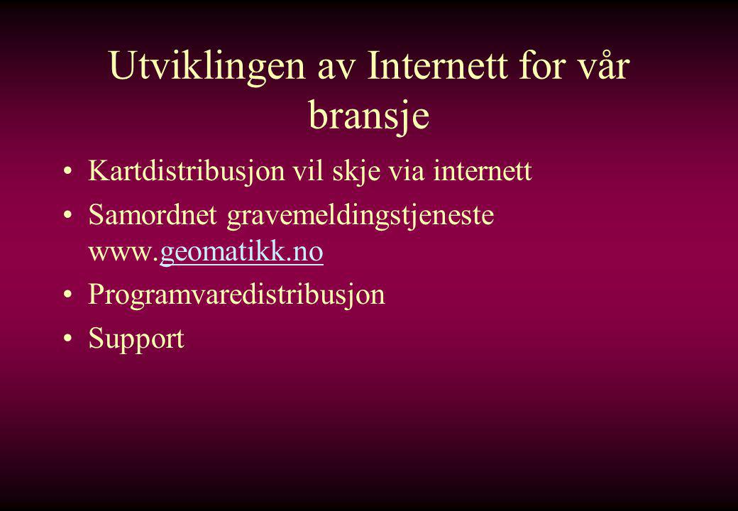 Utviklingen av Internett for vår bransje
