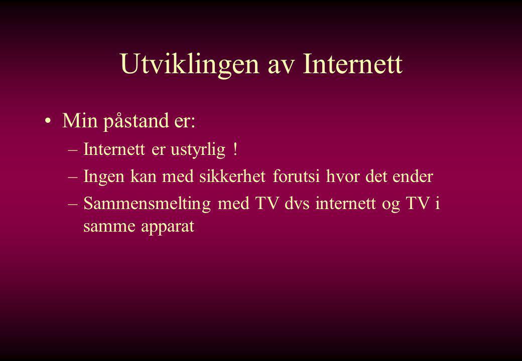 Utviklingen av Internett