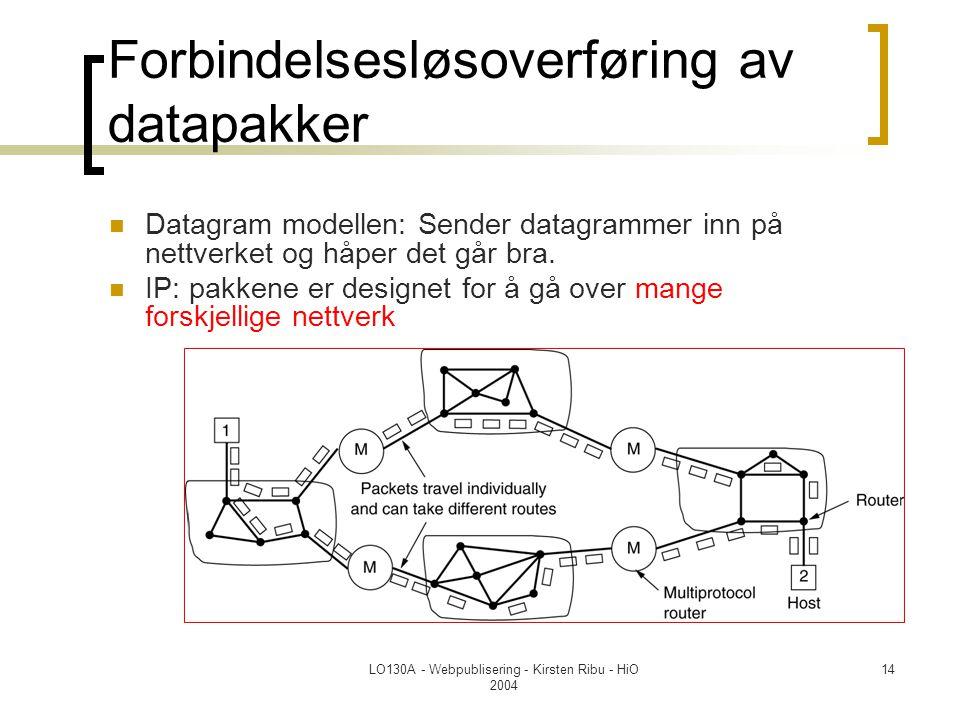 Forbindelsesløsoverføring av datapakker