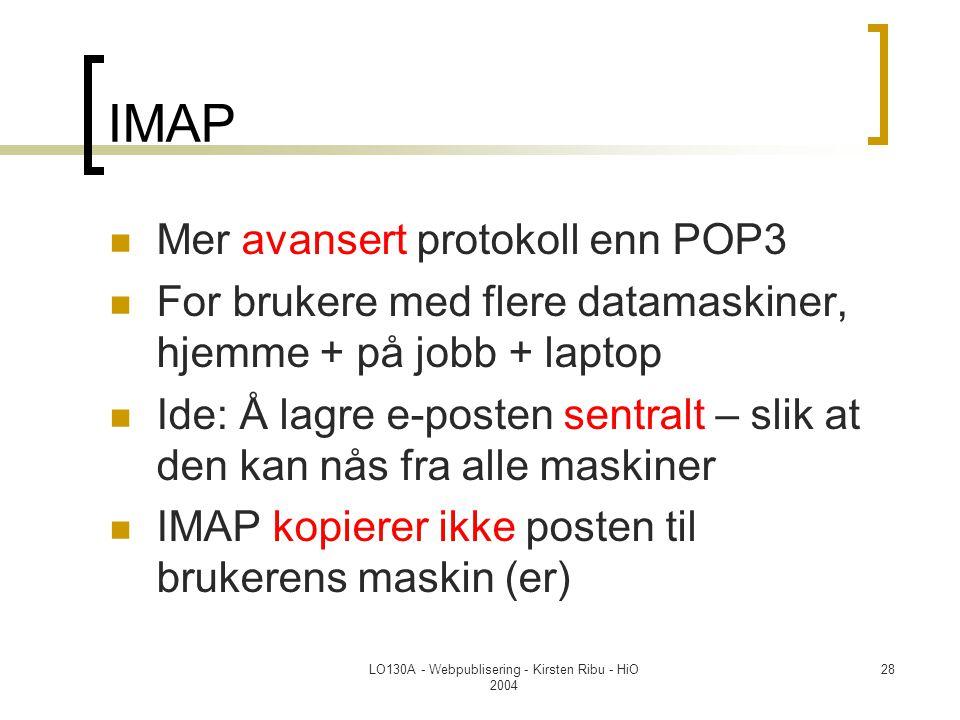 LO130A - Webpublisering - Kirsten Ribu - HiO 2004