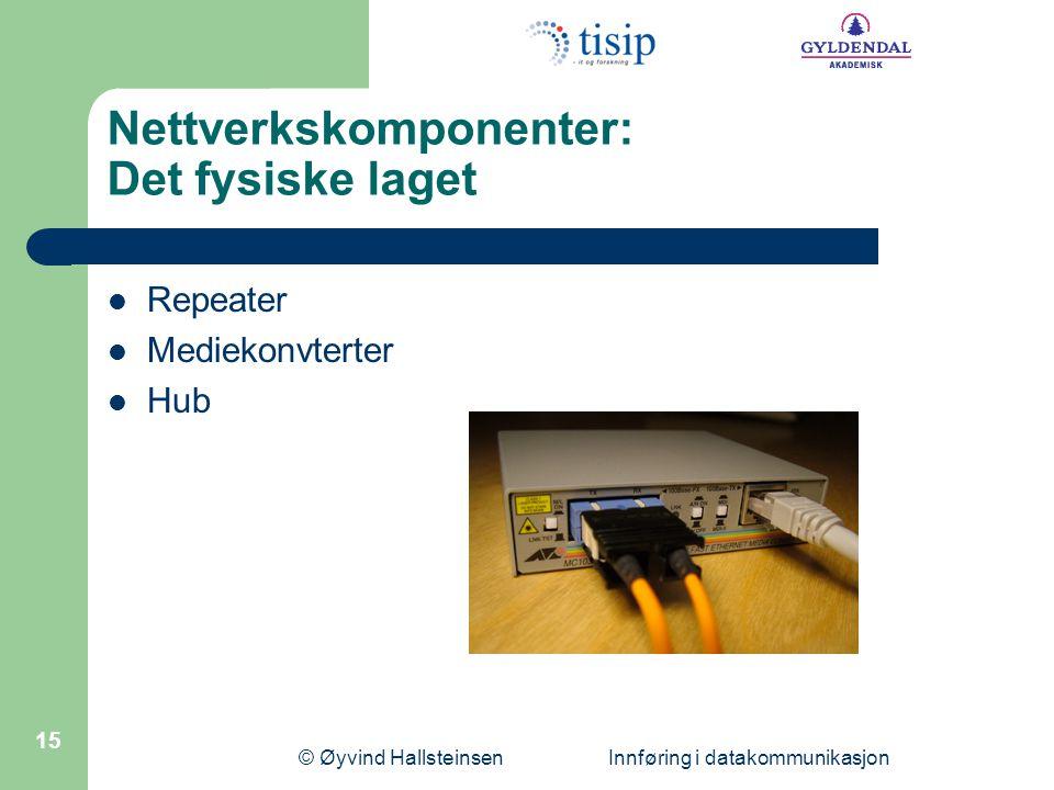 Nettverkskomponenter: Det fysiske laget