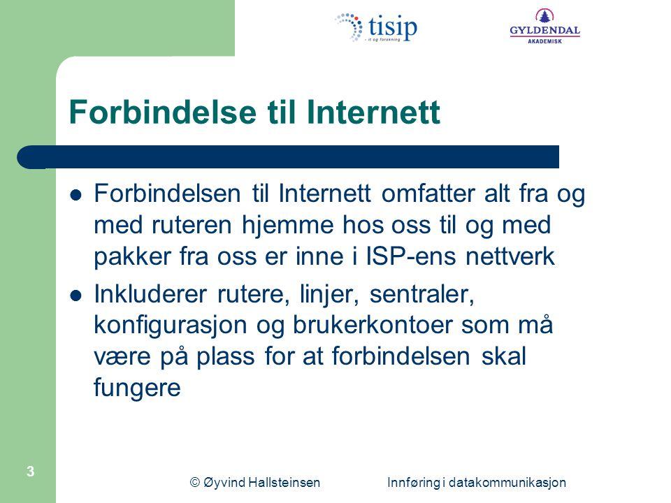 Forbindelse til Internett