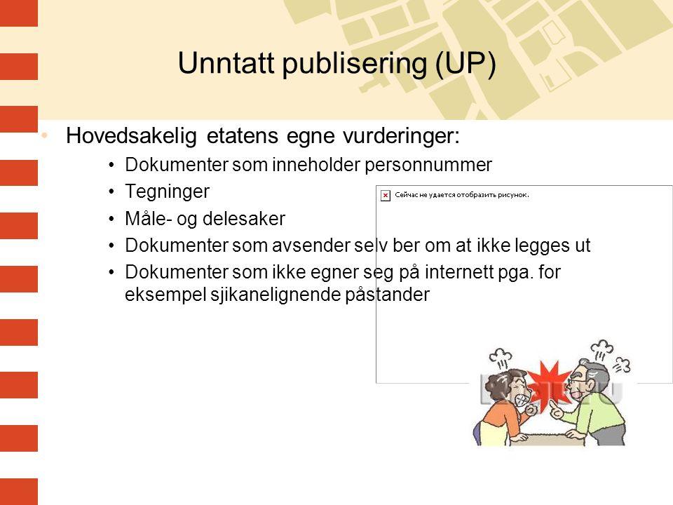 Unntatt publisering (UP)