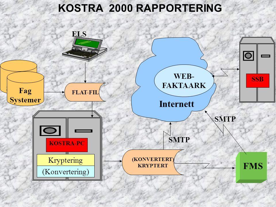 KOSTRA 2000 RAPPORTERING Internett FMS ELS Fag WEB- System FAKTAARK