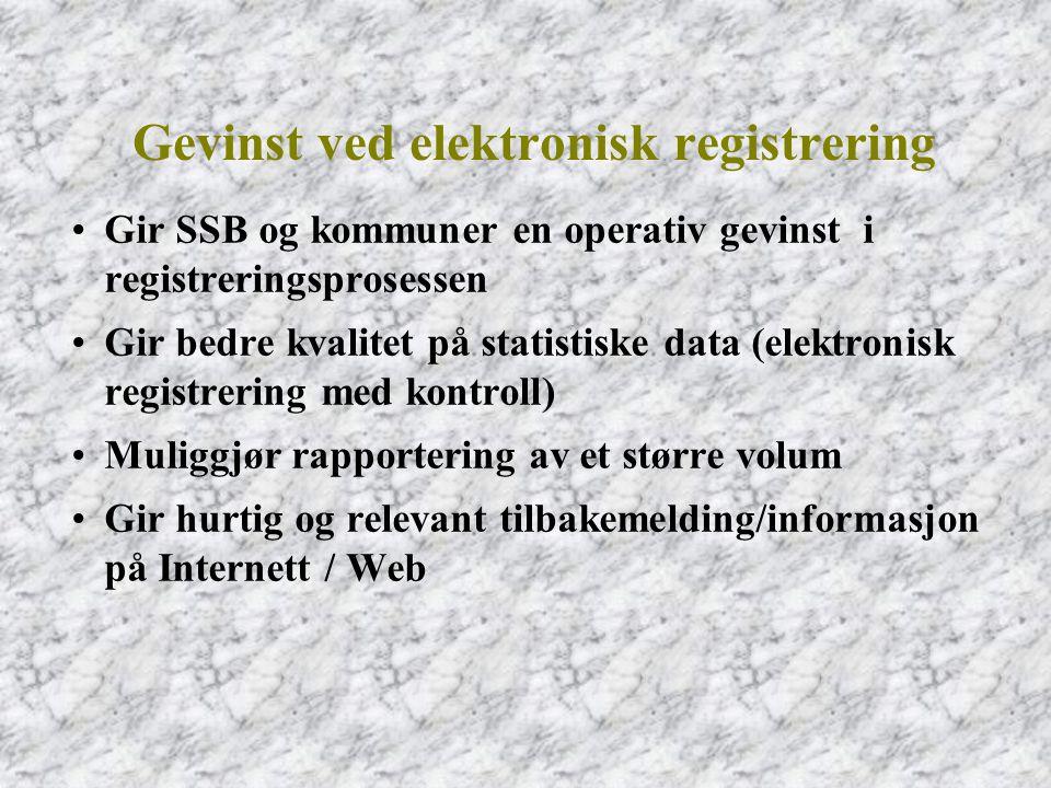 Gevinst ved elektronisk registrering
