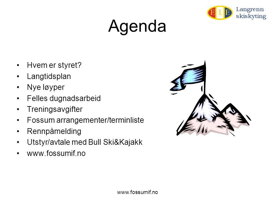 Agenda Hvem er styret Langtidsplan Nye løyper Felles dugnadsarbeid