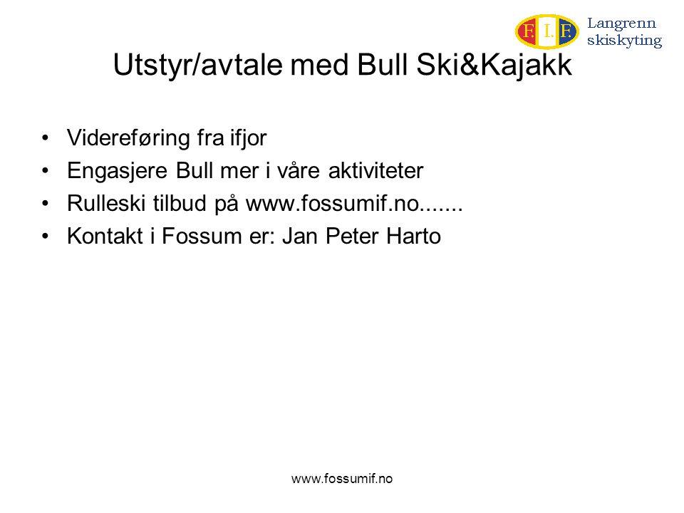 Utstyr/avtale med Bull Ski&Kajakk