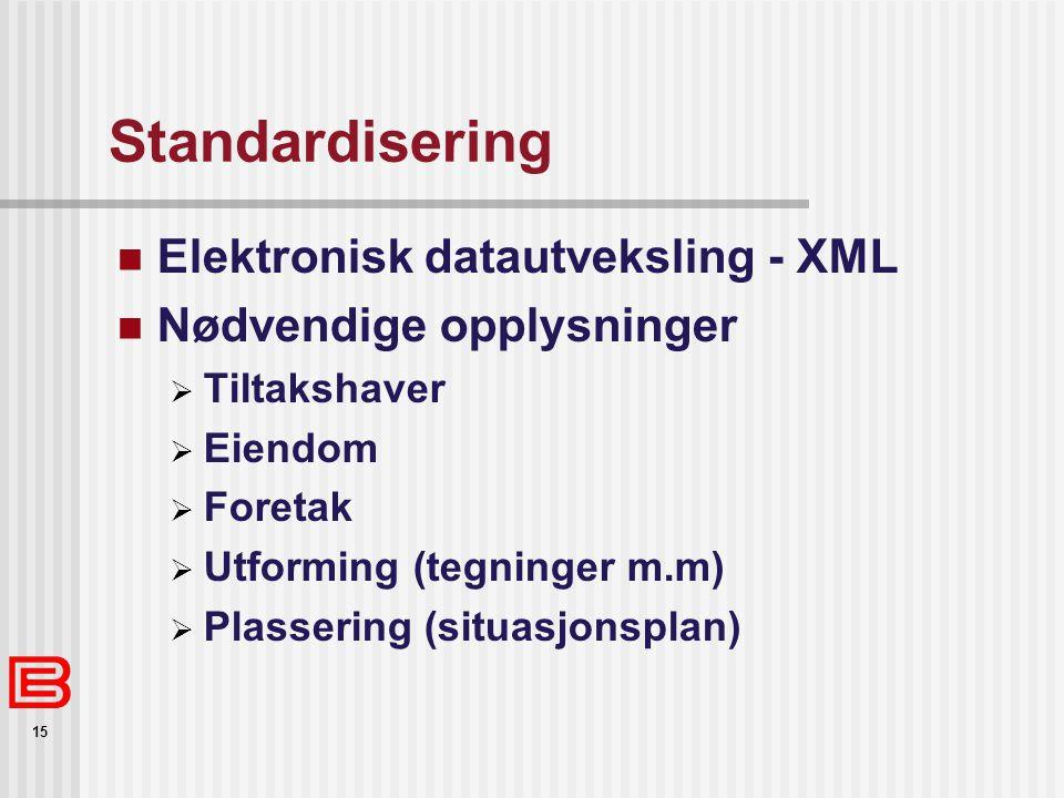 Standardisering Elektronisk datautveksling - XML