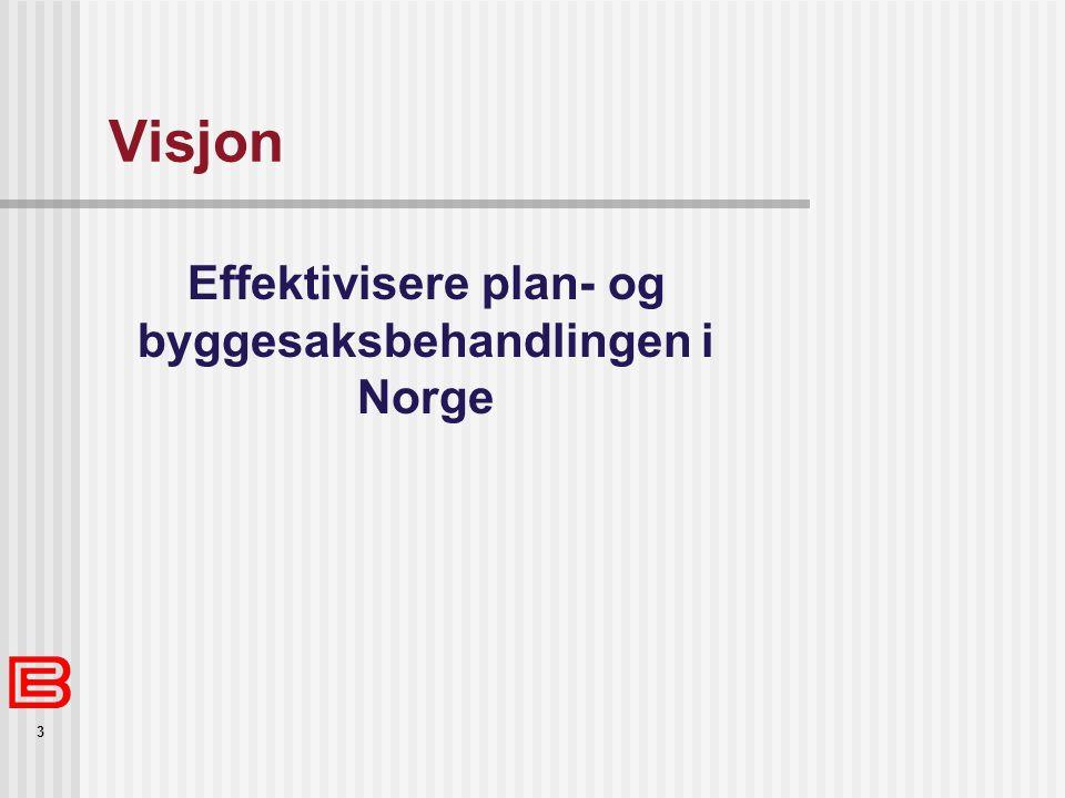 Effektivisere plan- og byggesaksbehandlingen i Norge