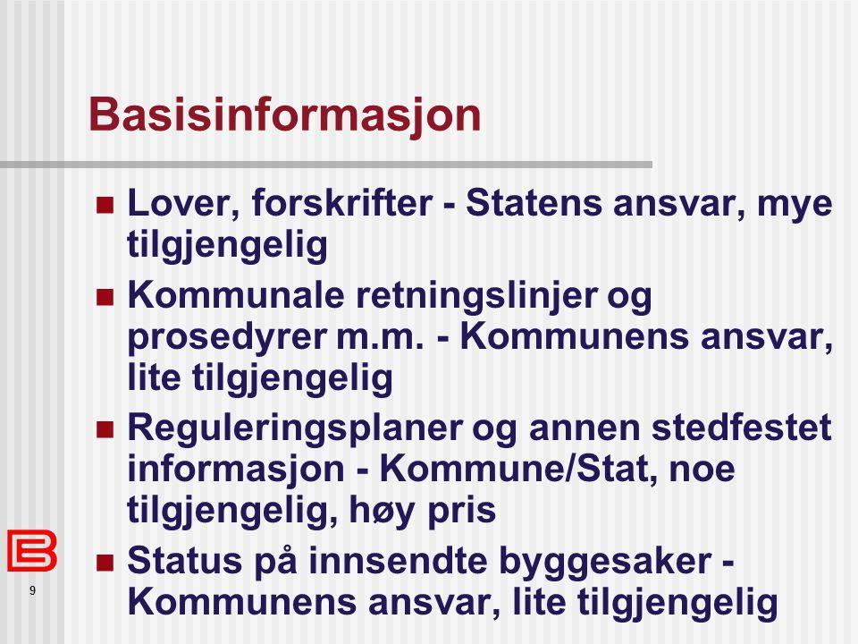 Basisinformasjon Lover, forskrifter - Statens ansvar, mye tilgjengelig