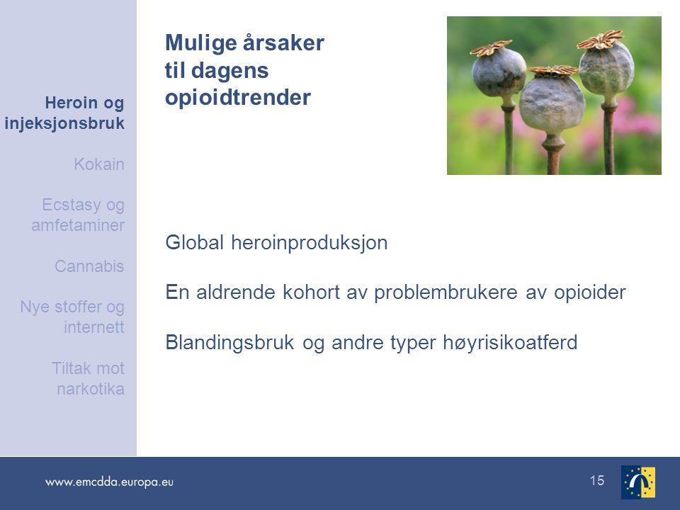 Mulige årsaker til dagens opioidtrender