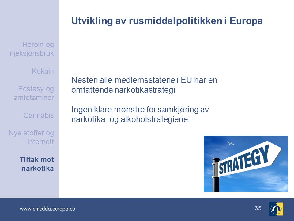 Utvikling av rusmiddelpolitikken i Europa
