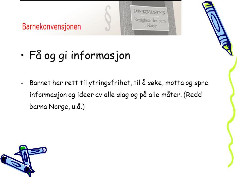 Få og gi informasjon