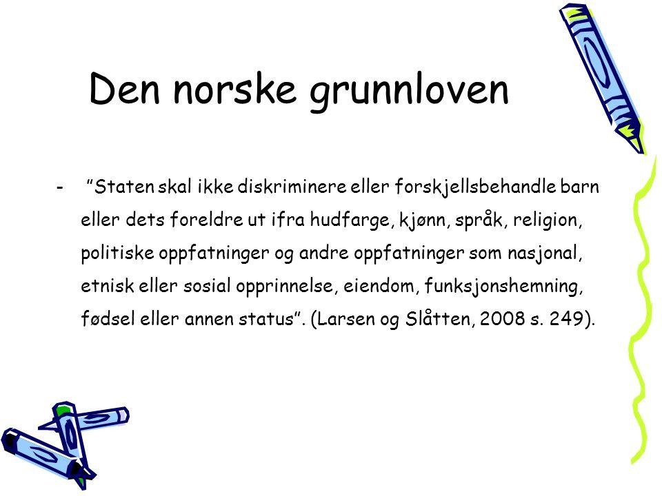 Den norske grunnloven