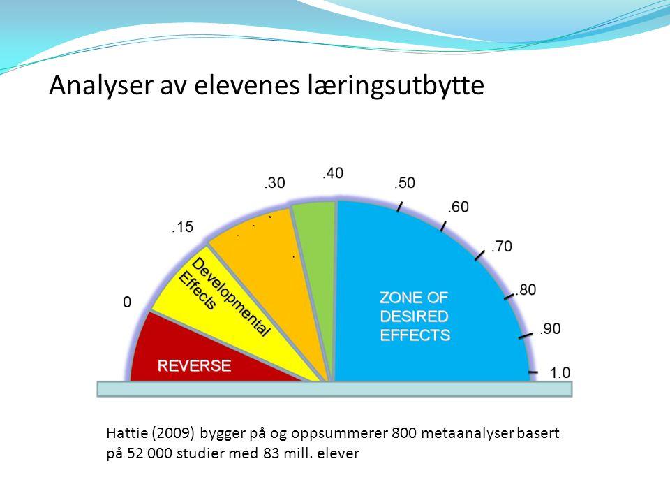 Analyser av elevenes læringsutbytte